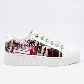 Y Not Sneakers with Alberobello Print for Women