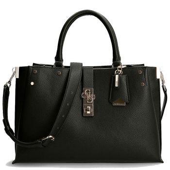 GUESS Albury Line – Large Black Handle Bag