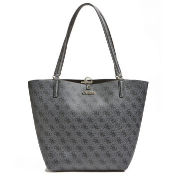 GUESS Alby Line – Cobalt Faux Leather Tote Bag for Women