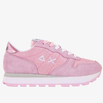 SUN68 Woman Sneakers - Ally Thin Glitter Pink