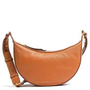 COCCINELLE Anais Line -Caramel Colour Leather Woman Shoulder Bag