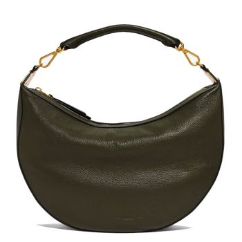 COCCINELLE Anais Line - Reef Leather Hobo Bag Made In Italy