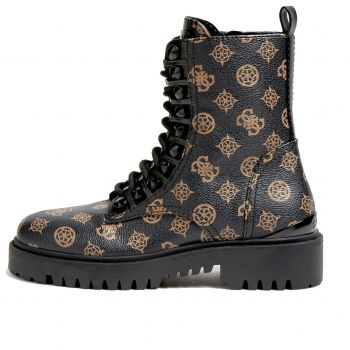 GUESS Oxana Line – Brown Multi Combat Boots For Women