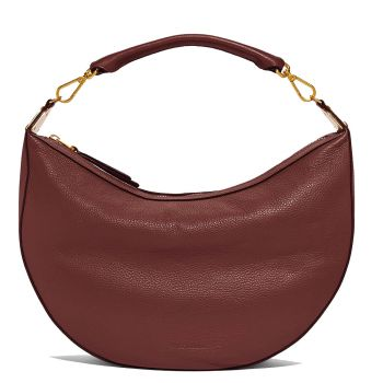 COCCINELLE Anais Line - Marsala Leather Hobo Bag Made In Italy