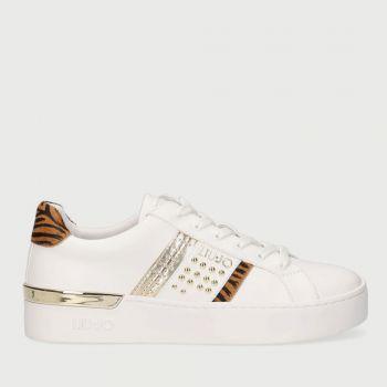 LIU JO Platform White Sneakers with Zebra Detail