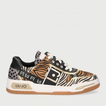 LIU JO Animal Print Sneakers with Monogram Logo