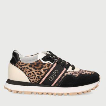 LIU JO Animal Print Satin Sneakers