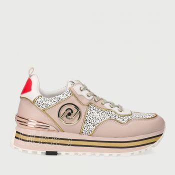 LIU JO Animal Print Pink - White Sneakers