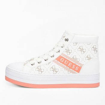 GUESS Barron Line – White Sneakers with Guess Logo