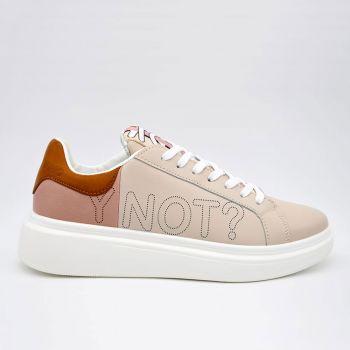 Y Not Pink Beige Sneakers for Women