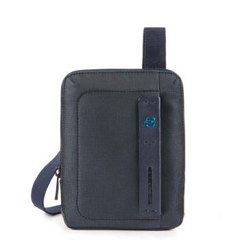 PIQUADRO Pulse 16 – Blue Fabric Crossbody Bag With iPad mini Compartment CA3084P16