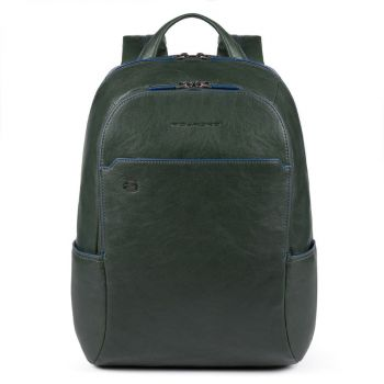 """PIQUADRO B2s Line – Green Leather Backpack with IPAD®AIR-IPAD PRO 9.7/IPAD 11"""" Compartment CA3214B2S"""
