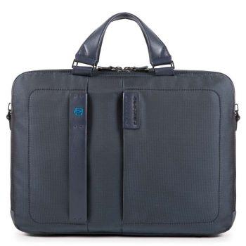 PIQUADRO Pulse P16 Line – Blue Chevron Fabric Portfolio Computer Bag  CA3347P16