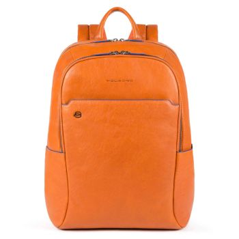 """PIQUADRO B2S Line – Orange Leather Backpack with 15,6"""" Pc Compartment CA4762B2S"""