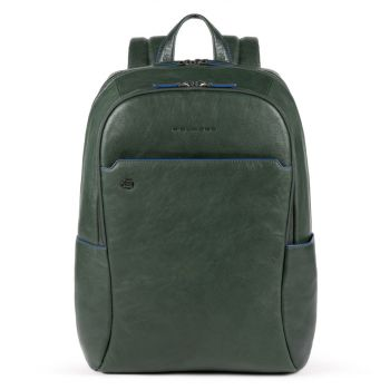 """PIQUADRO B2S Line – Green Leather Backpack with 15,6"""" Backpack CA4762B2S"""
