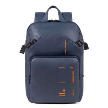 PIQUADRO Kyoto Line – Blue Leather Backpack CA4923S106
