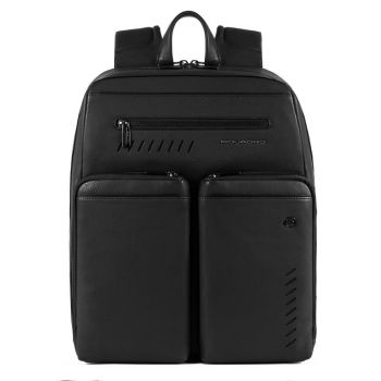PIQUADRO Nabucco Line – Black Leather Backpack CA5341S110