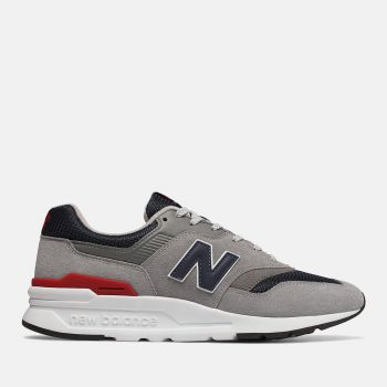 NEW BALANCE 997H Line – Grey Navy Red Suede Mesh Sneakers for Men