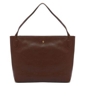 COCCINELLE Cocci Grain Medium Line – Moka Leather Tote Bag Made In Italy