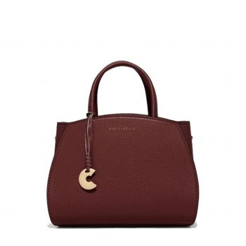 COCCINELLE Ela Concrete Mini - Marsala Leather Handle Bag