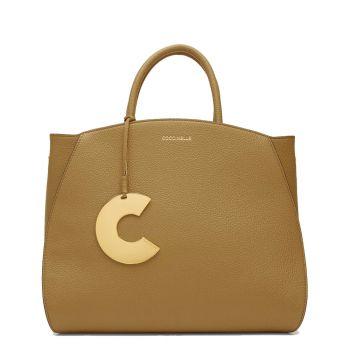 COCCINELLE Concrete Line – Medium Moss Green Handle Bag