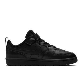 NIKE Nike Court Borough Line – Low Black Sneakers for Kids