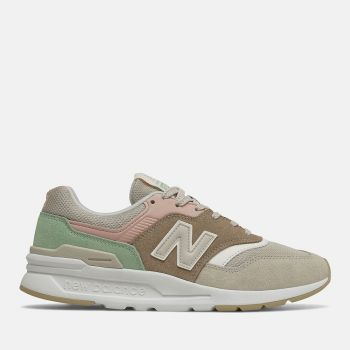 NEW BALANCE 997H Line – Tan e Pink Suede Mesh Sneakers for Women