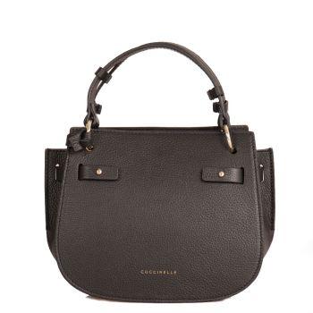 COCCINELLE Didi Line – Mini Black Leather Shoulder Bag