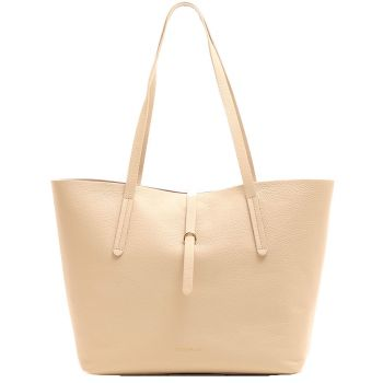 COCCINELLE Seashell Leather Woman Shopper Shoulder Bag Dione Line