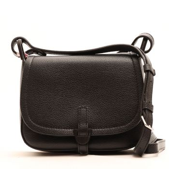 COCCINELLE Black Leather Woman Crossbodybag  Dao Fauve Line