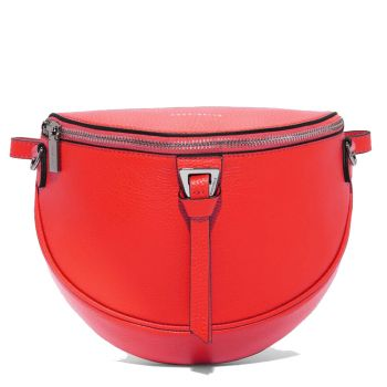 COCCINELLE Blackie - Polish Red Leather Belt Bag