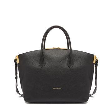 COCCINELLE Estelle Line – Medium Black Leather Hobo Bag
