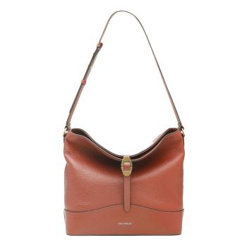 COCCINELLE Josephine Line – Cinnamon Leather Hobo Bag for Her