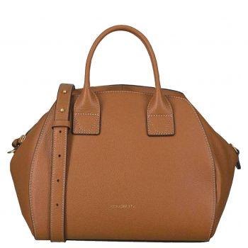 COCCINELLE Ela Journal Line – Medium Caramel Handle Bag