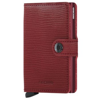 SECRID Miniwallet Rango Red Leather with RFID