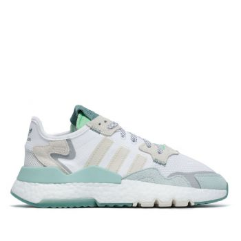 ADIDAS Nite Jogger W Line – White Green Leather Sneakers