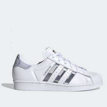 ADIDAS Superstar W Line – White and Grey Leather Sneakers
