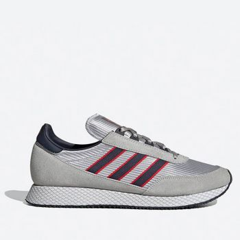 ADIDAS Glenbuck Line – Grey Blue and Red Sneakers
