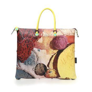 GABS G3 Super Line Medium Leather Handle Bag with Spezie Print