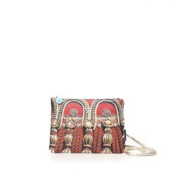 GABS Beyonce Line Small Leather Shoulder Bag with Cordoni Print