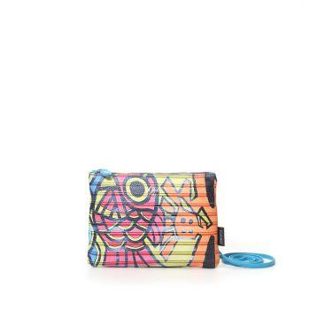 GABS Beyonce Line Small Leather Shoulder Bag with Serranda Print