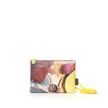 GABS Beyonce Line Small Leather Shoulder Bag with Spezie Print