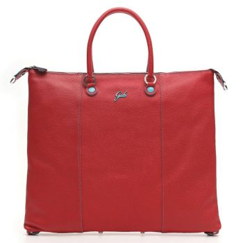 GABS G3 Plus Red Leather Convertible Handbag Large Size Made in Italy