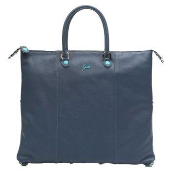 GABS G3 Plus Dark Blue Leather Convertible Handbag Large Size