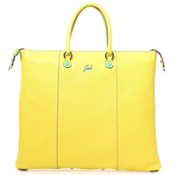 GABS G3 Plus Lemon Yellow Leather Convertible Handbag Large Size