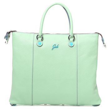 GABS G3 Plus Mint Leather Convertible Handbag Large Size Made in Italy