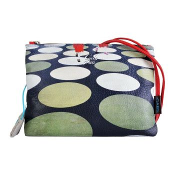 GABS Beyonce Line Small Leather Shoulder Bag with Pois Print