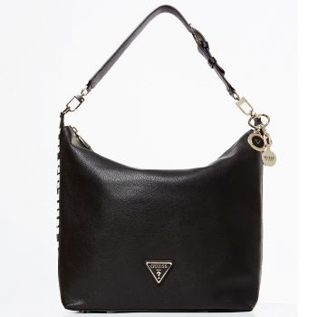 GUESS Black Woman Hobo Bag Narita Line