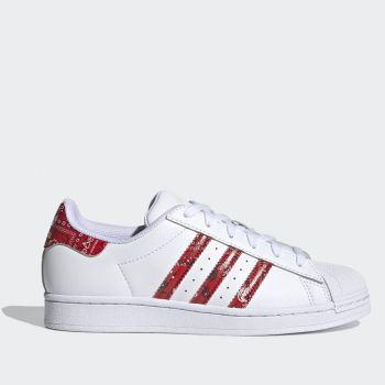 ADIDAS Superstar W Line – White Red Leather Sneakers