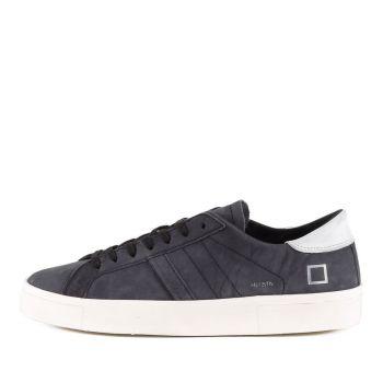 D.A.T.E. Hill Low Asymmetric Line – Blu Suede Sneakers